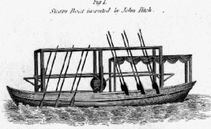 John Fitch's early steamboat design