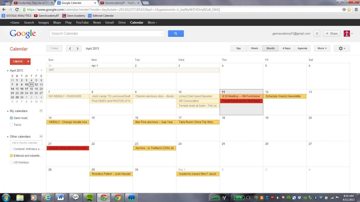 Leveraging an Internal Editorial and Social Media Calendar