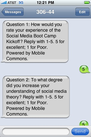 Mobile evaluations on an iPhone