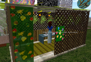 Here I am (my avatar) visiting a traditional sukkah in Second Life
